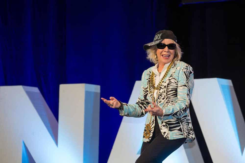 Motivational Speaker Linda Larsen as LL Cool Mom in Shades