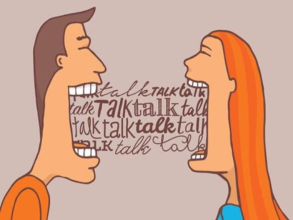 Cartoon Talk Talk Talk