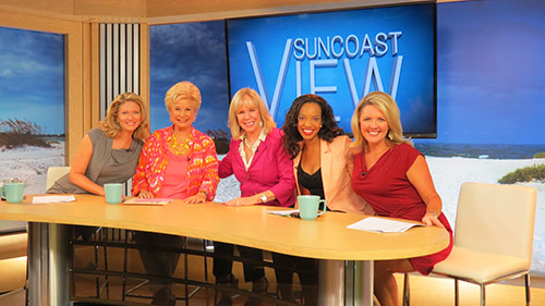 Group Shot of Linda with the Cast of the Suncoast View