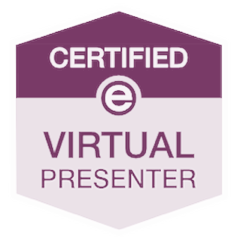 Certified Virtual Presenter Back for Purple Background
