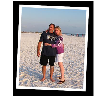 Motivational Speaker Linda Larsen with Husband John Scalzi at the Beach