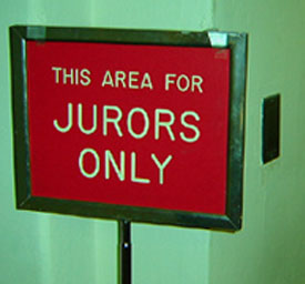 Juror Only Sign