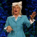 Motivational Speaker Linda Larsen Acting on Stage