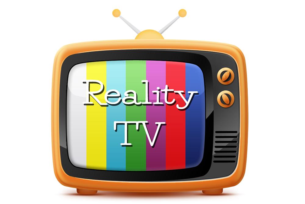 Reality TV Cartoon Large on White