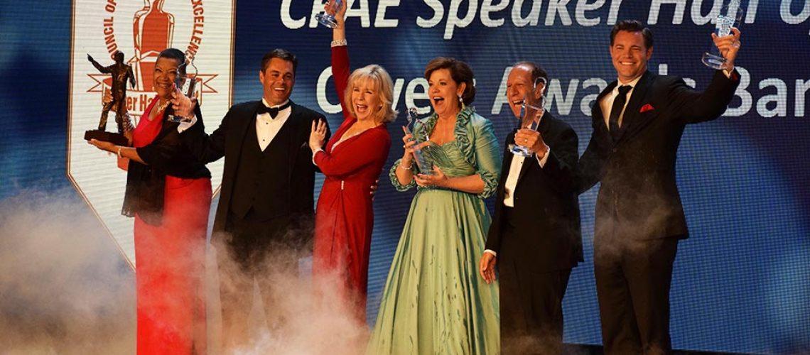 Motivational Speaker Linda Larsen at the CPAE Speaker Hall of Fame Awards