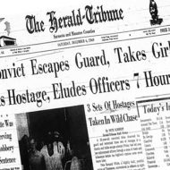 Newspaper Clipping of Linda's Kidnapping