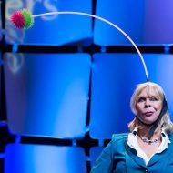 Motivational Speaker Linda Larsen with Her Swivel Ball